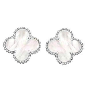 Jewelry - Four Leaf Clover Mother of Pearl Earrings
